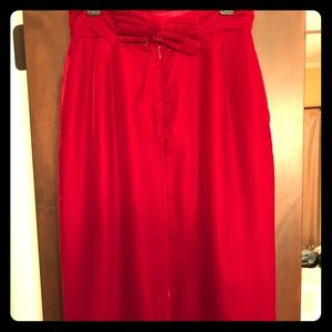 Dresses & Skirts - Red velvet, vintage long skirt.